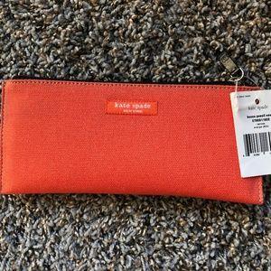 Orange Kate Spade Pencil Case